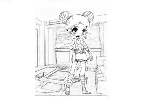 Раскраска аниме тян