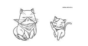 Раскраска аниме котики