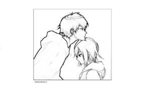 Раскраска аниме пары
