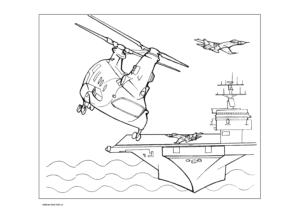 Раскраска авианосца с самолетами и вертолетами