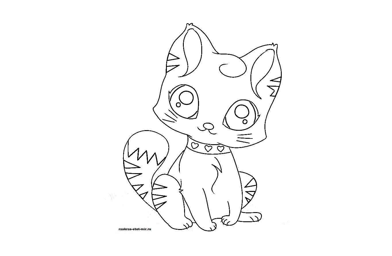 Раскраски котят для девочек - Раскрась этот мир!