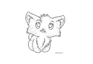 Раскраска котенка