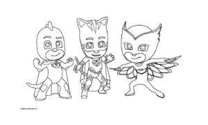 Раскраска героев в масках