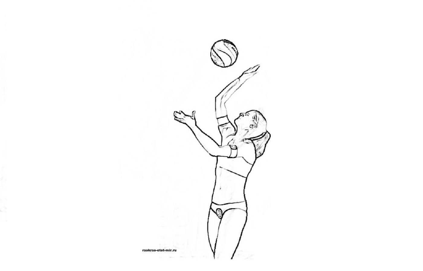 Раскраски волейбол - Раскрась этот мир!