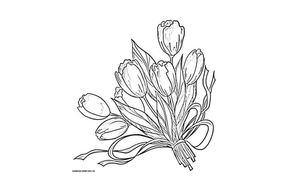 Раскраска букетов цветов