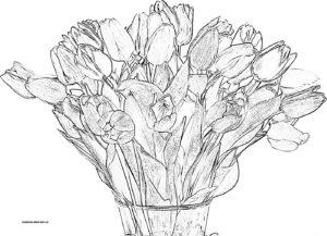 Раскраска букета цветов