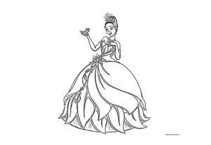Раскраска принцессы Диснея
