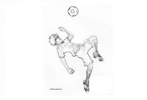 Раскраска футболист