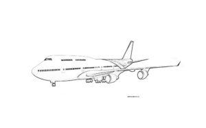 Раскраска пассажирского самолета