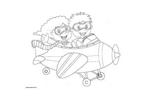 Раскраска самолета для детей