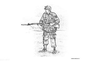 Раскраска солдата Второй мировой