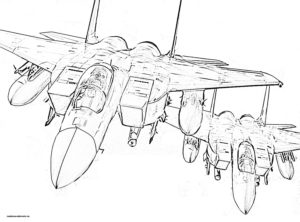Раскраска боевые самолеты в небе