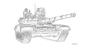Раскраска отечественного танка