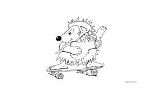 Ежик на скейте