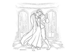 Раскраска Рапунцель и принц