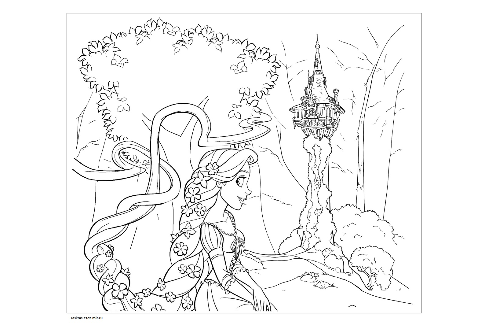 Раскраски Рапунцель для девочек - Раскрась этот мир!
