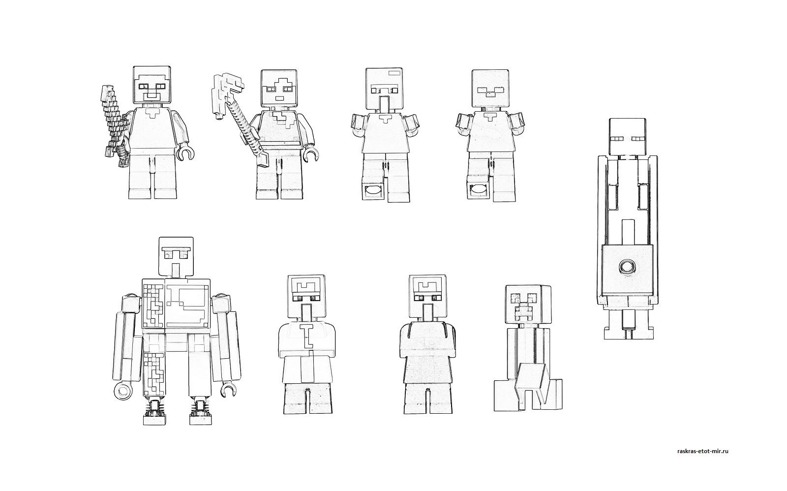 Лего майнкрафт раскраска распечатать бесплатно - Minecraft ...