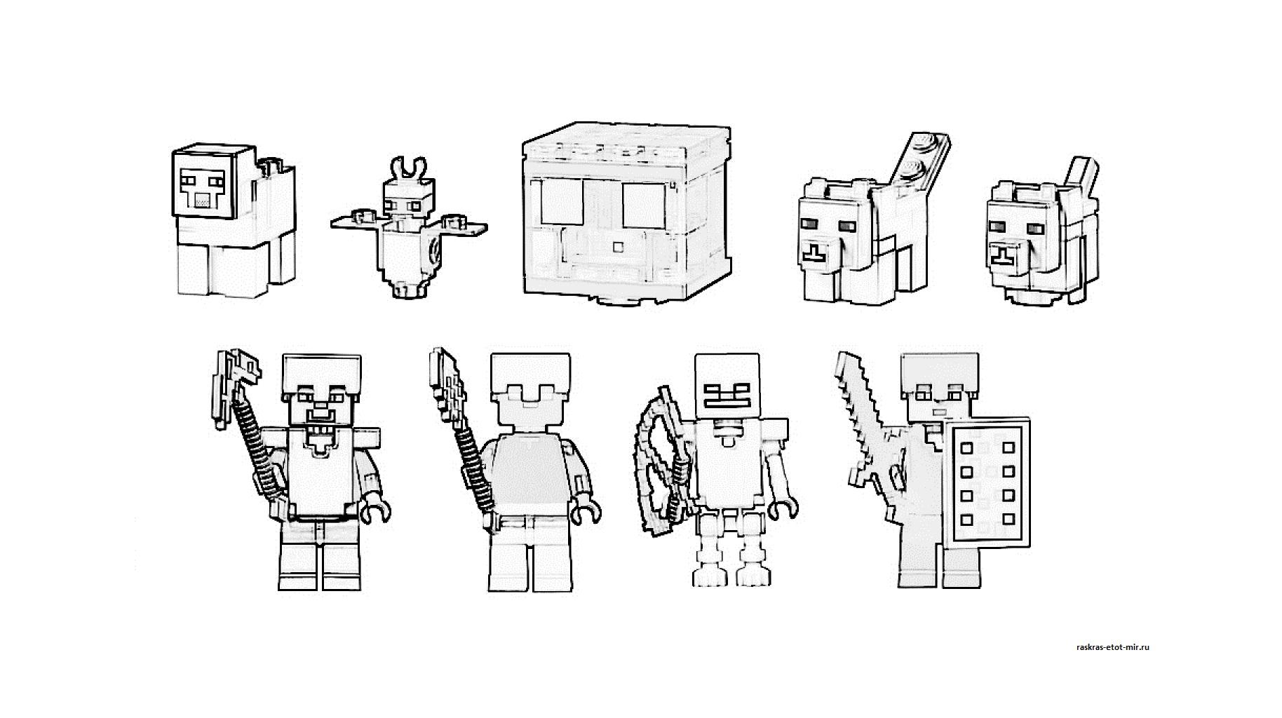 Раскраски Лего Майнкрафт - Раскрась этот мир!