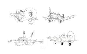 Раскраска самолетов Диснея