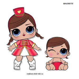 ЛОЛ Majorette с сестренкой