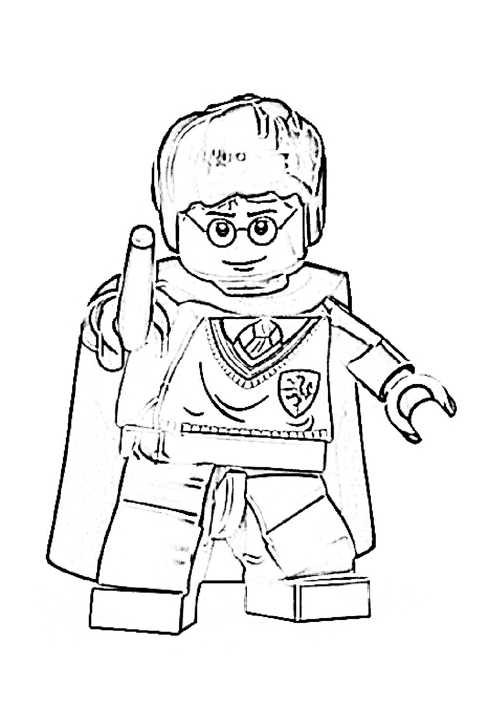 Раскраска Лего Гарри Поттер - Раскрась этот мир!
