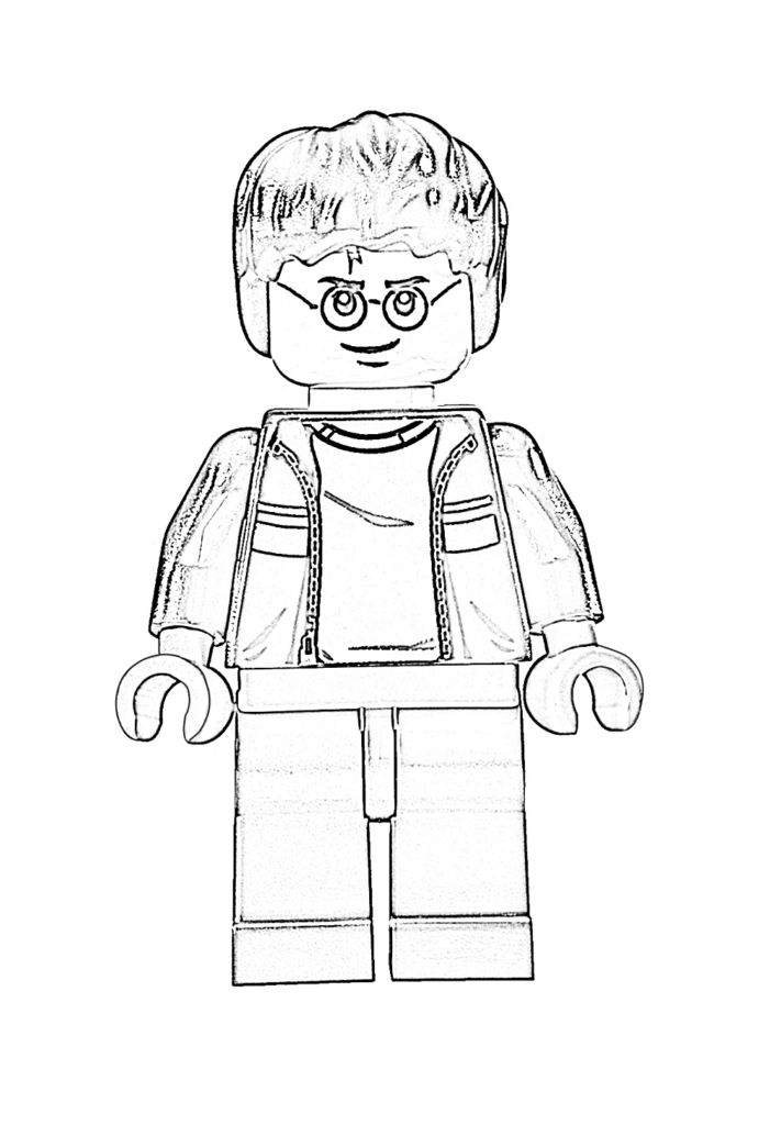 Раскраска Лего Гарри Поттер