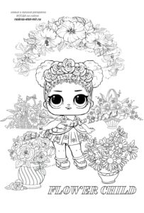 Раскраска ЛОЛ Дитя Цветов