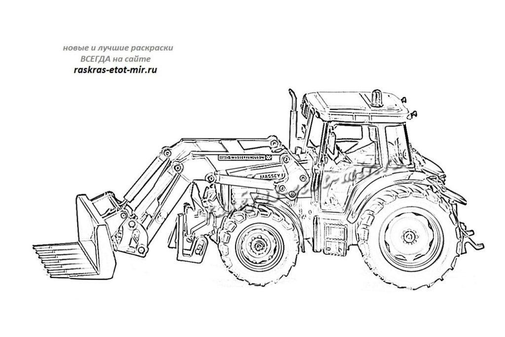 Иллюстрация трактора