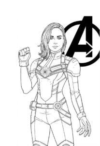 Раскраска Капитан Марвел