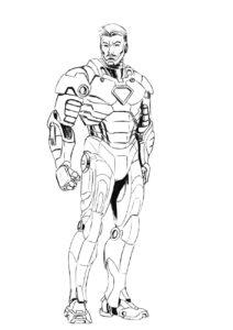 Раскраска железный человек