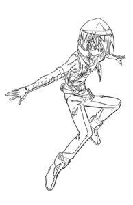 Раскраска аниме