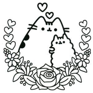 Раскраска Кот Пушин