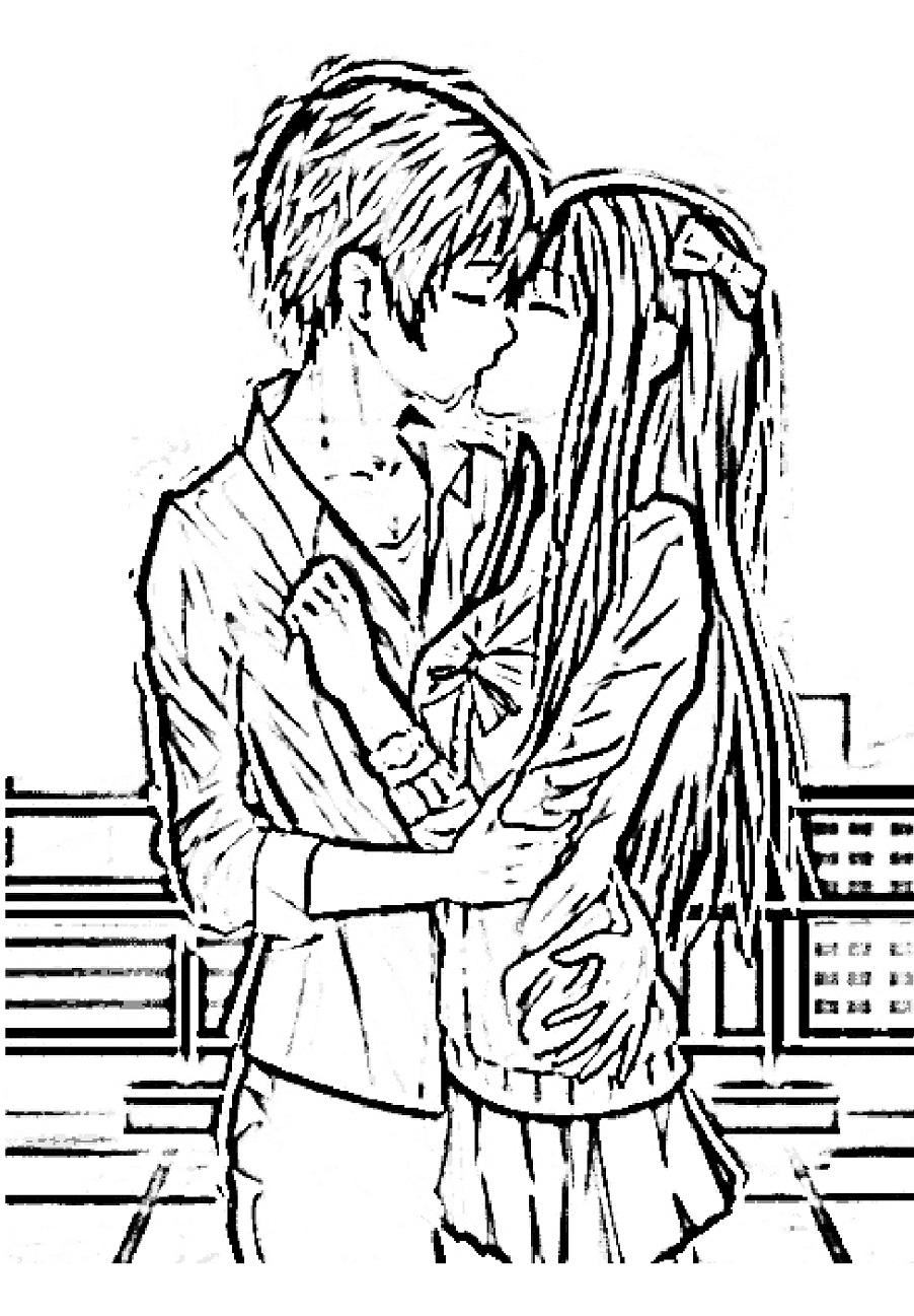 Раскраски аниме пары - Раскрась этот мир!