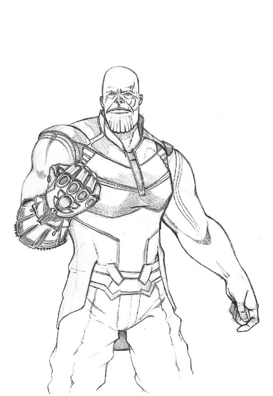 Скачать и распечатать раскраску Таноса