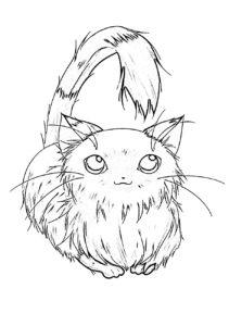 Раскраска аниме котик
