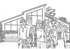 Раскраска Приключения Барби в доме мечты