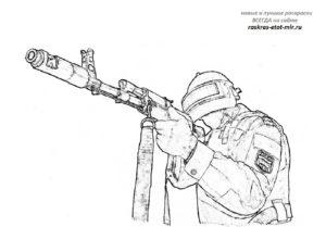 Раскраска Спецназ