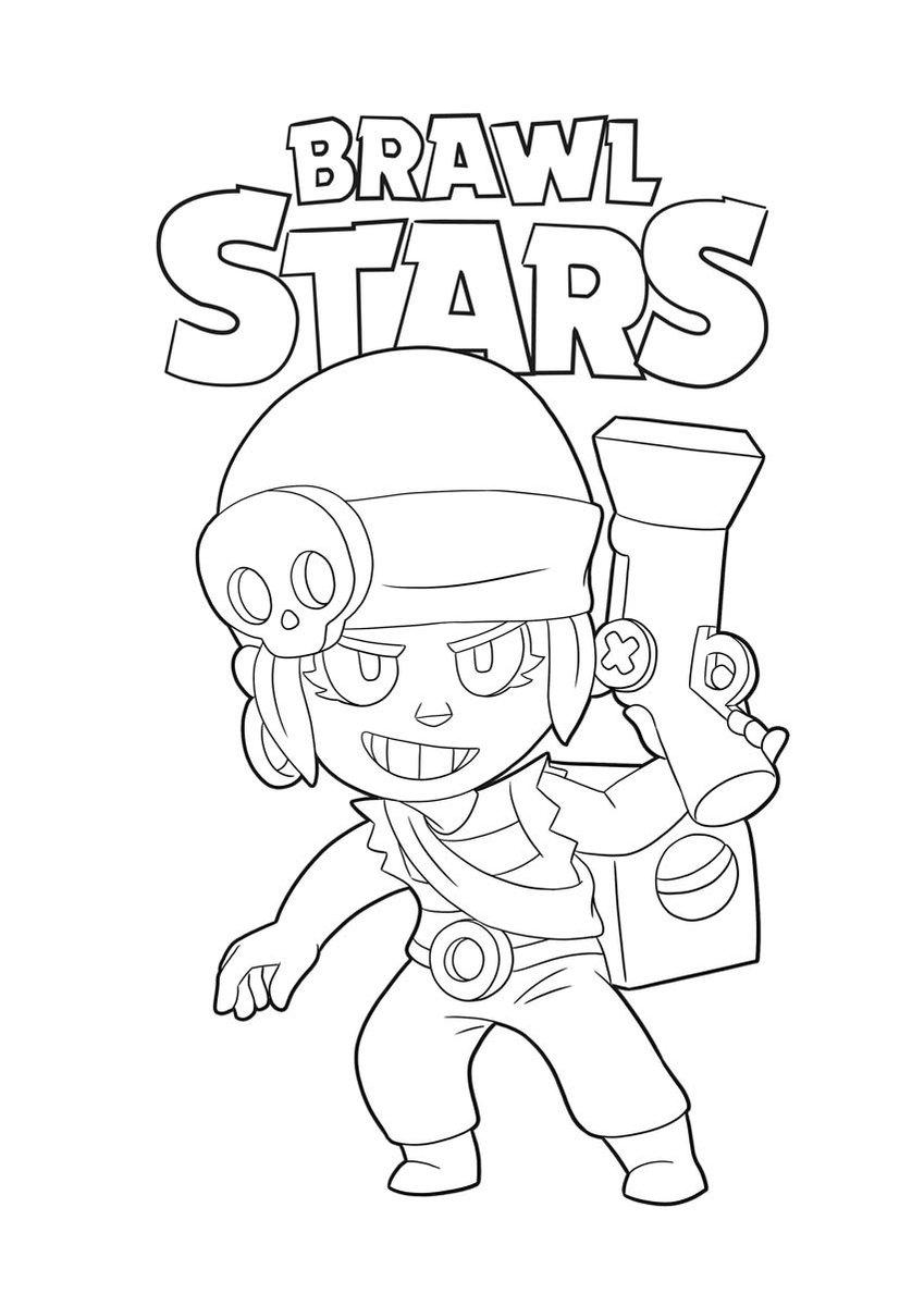 как нарисовать Ems из Brawl Stars - как