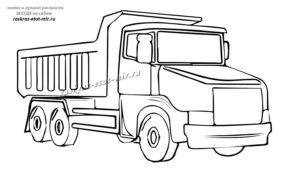 Раскраска грузовой машины