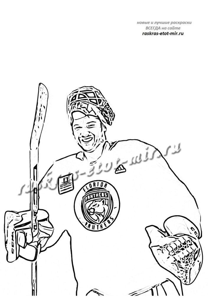 Раскраска хоккей
