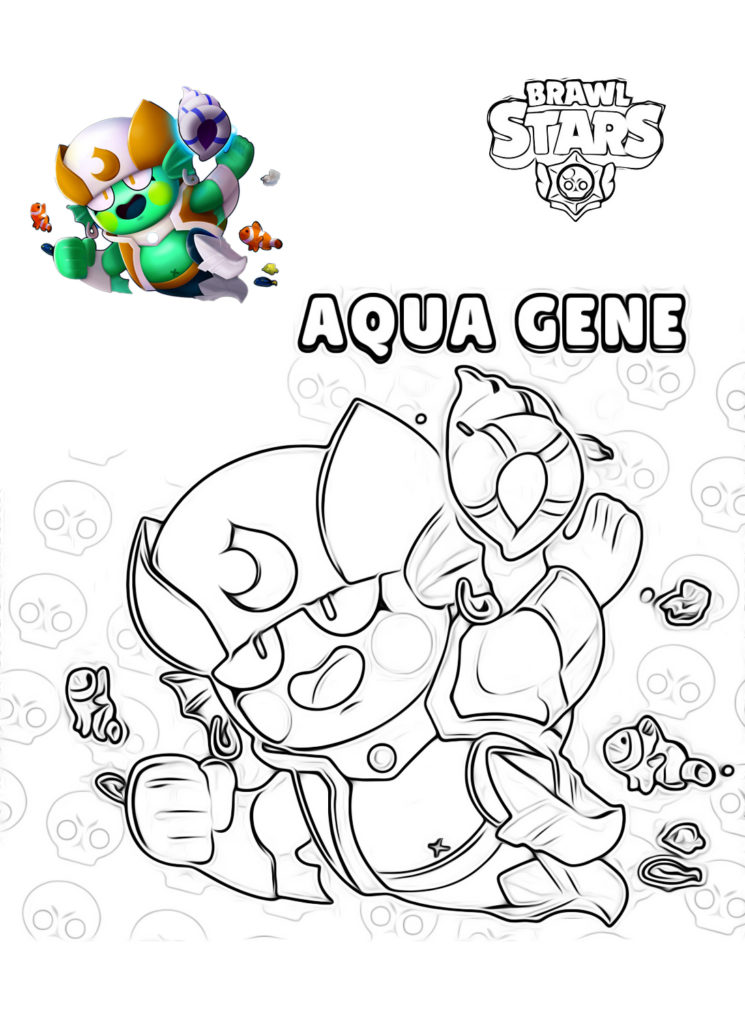 Раскраска Aqua Gene из Браво Старс