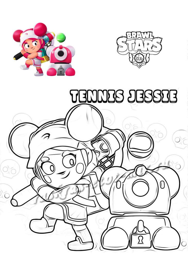 Раскраска Tennis Jessie из Браво Старс