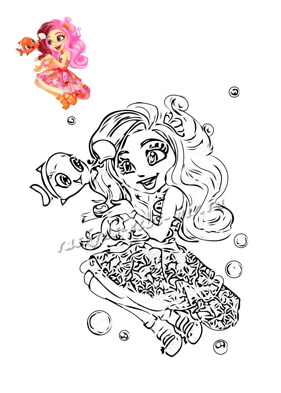 Скачать бесплатно раскраску Клариты из Энчантималс