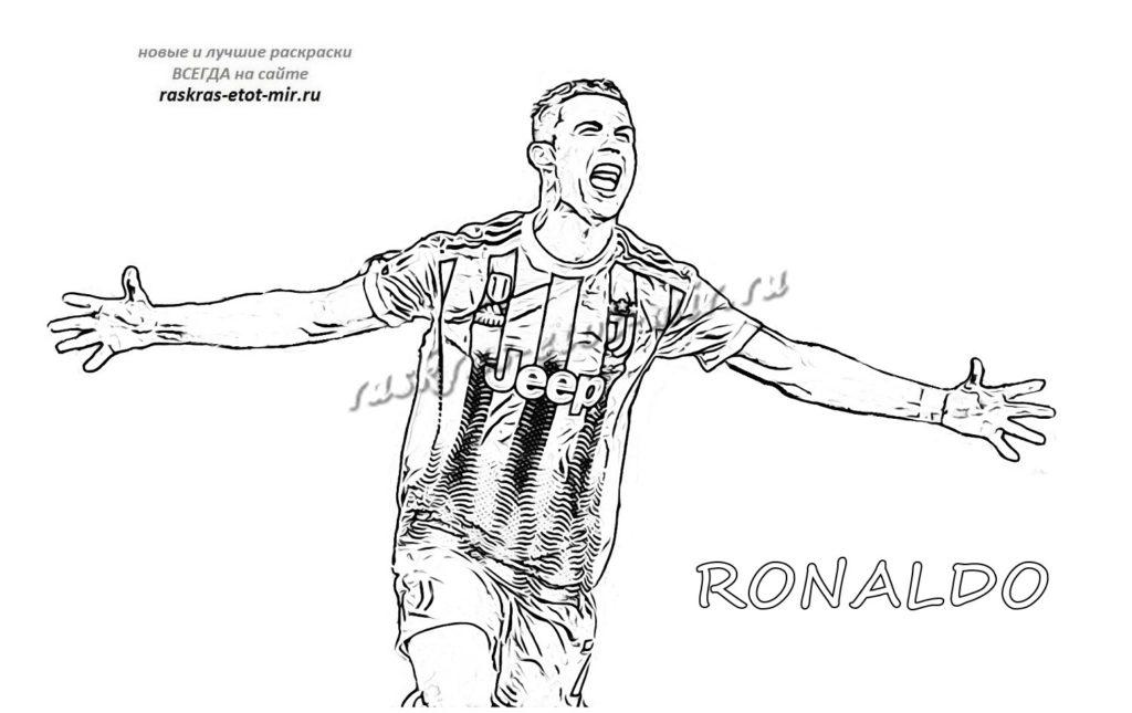 Раскраска Роналдо в Ювентусе
