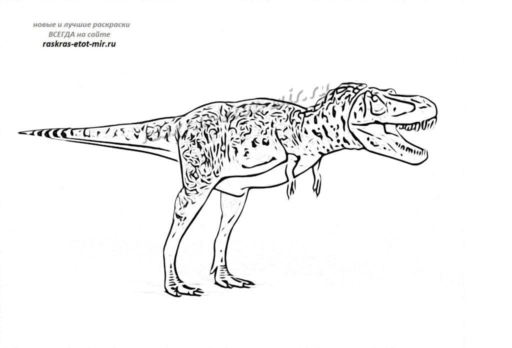 Раскраска тарбозавра